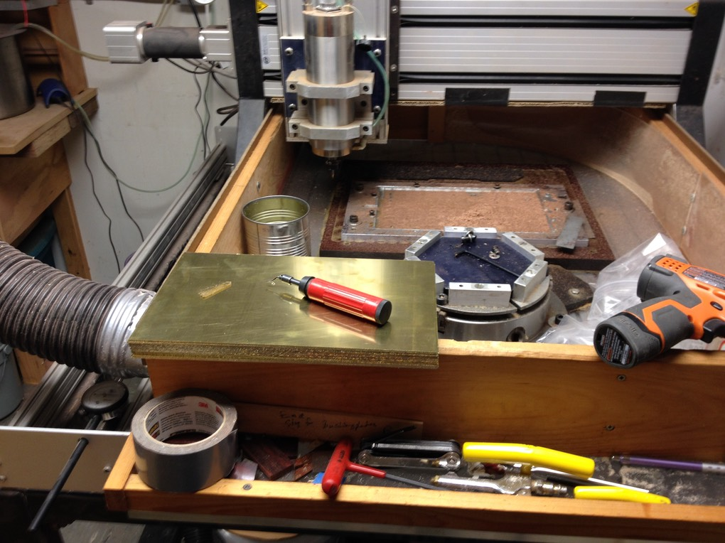 CNC router  about to go to work